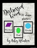 Distressed Wood 2D shape posters