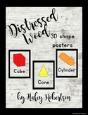 Distressed Wood 3D shape posters