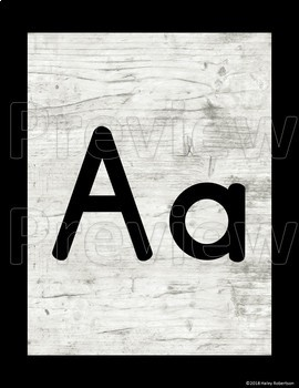 Distressed Wood alphabet posters