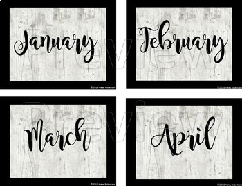 Distressed Wood birthday chart pieces EDITABLE