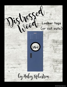 Distressed Wood circle locker tags or cut outs EDITABLE