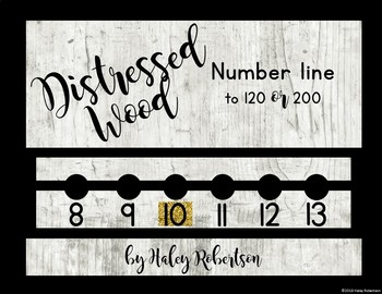Distressed Wood number line to 120 or 200
