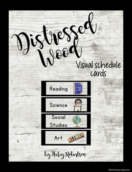 Distressed Wood schedule cards