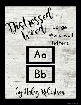 Distressed Wood word wall *EDITABLE*