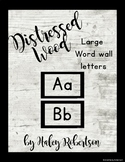 Distressed Wood word wall *EDITABLE*