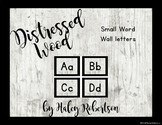 Distressed wood word wall headers *Smaller size* EDITABLE