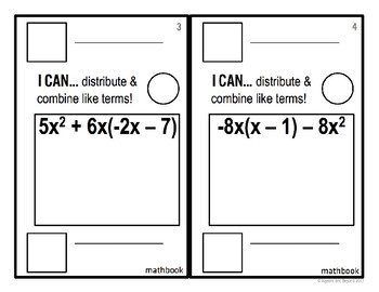 Distribute and Combine Like Terms - Mathbook