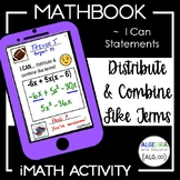 Distribute and Combine Like Terms Activity - Mathbook