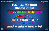 Distributing (FOIL Method) Math Poster
