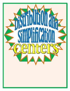 Distributing and Simplifying Centers