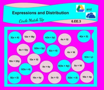 Distribution Circle Match Up Digital Activity (6EE3)