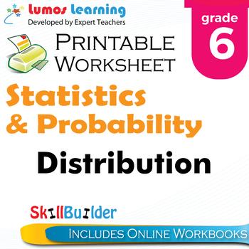Distribution Printable Worksheet, Grade 6