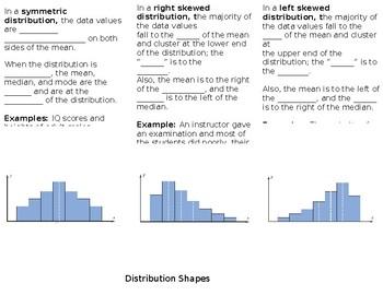 Distribution Shapes Foldable