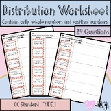Distribution Worksheet (24 questions)