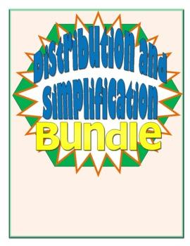 Distribution and Simplification Activities Bundle