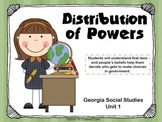 Distribution of Power (2nd Grade Social Studies GA Unit)