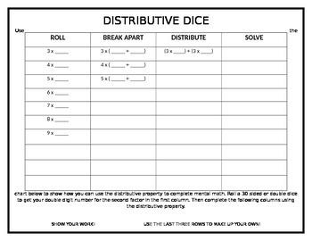 Distributive Dice