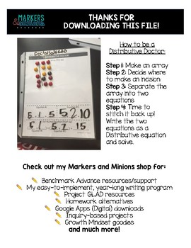 Distributive Doctor! (Hands-on Distributive Property Activity) FREEBIE