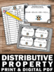 Distributive Property & Equivalent Expressions Task Cards