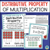 Distributive Property of Multiplication Posters, Task Cards, Assessment
