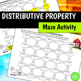 Distributive Property Maze Activity