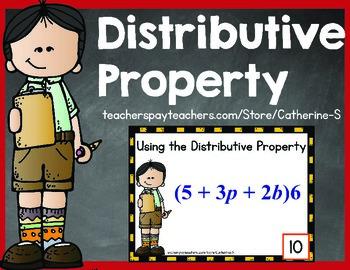 Distributive Property Task Cards