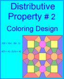 DISTRIBUTIVE PROPERTY: COLORING ACTIVITY #2