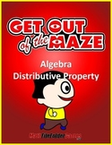 Distributive Property Mazes (Fun Worksheets)