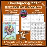 Thanksgiving Math Activity Distributive Property With Nega