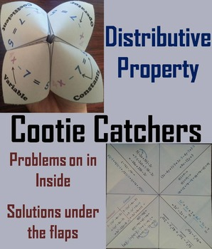 Distributive Property of Multiplication Activity (Scoot Unit Review Game)