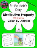 St. Patrick's Day Distributive Property With Negatives Col