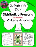 St. Patrick's Day Distributive Property No Negatives Color