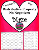 Distributive Property No Negatives Valentine's Day Math Maze