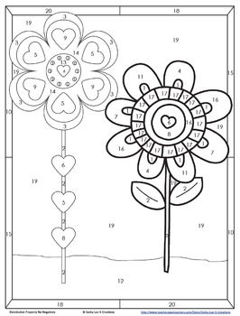 Distributive Property No Negs Color by Number Spring Math Coloring Page