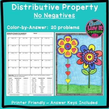 Color by Number Distributive Property No Negs Activity