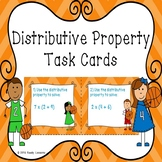 3rd Grade Distributive Property of Multiplication Task Cards 3.OA.5