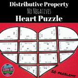 Valentine's Day Math Distributive Property No Negatives Va