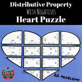 Valentine's Day Math Distributive Property Heart Puzzle Va