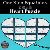 Valentine's Day Math One Step Equations Heart Puzzle - Val