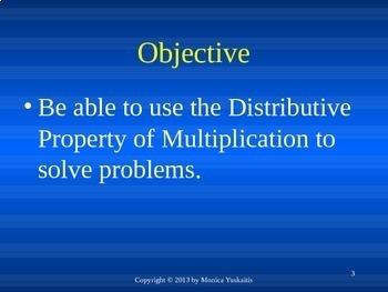 Common Core 3rd - Distributive Property