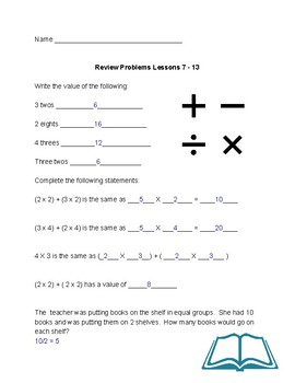 Problem Solving Practice Distributive Property 3rd Grade  Module 1