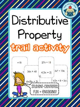 Distributive Property Trail Activity - Combining Like Terms