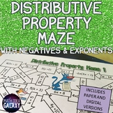 Distributive Property Activity with Exponents and Negative Integers