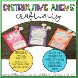 Distributive Property Aliens (Craftivity & Worksheet)
