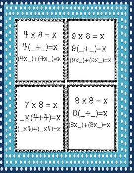 Distributive Property - Aligned with Common Core