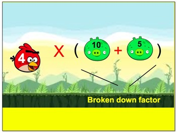 Distributive Property Angry Birds Themed