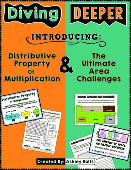 Distributive Property & Area Challenges Combo Pack!