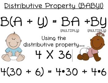 distributive property baby by emma hines teachers pay teachers