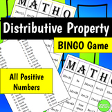 Distributive Property BINGO Game Positive Numbers Only