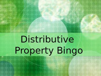 Distributive Property BINGO- PowerPoint Game